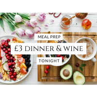 Meal prep £3 dinner and wine tonight