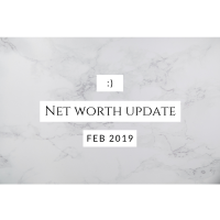 Net Worth Update - 4 months to go!